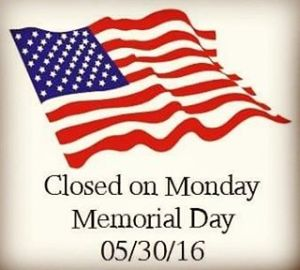 We will be be closed on Monday next week duehellip