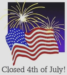 We will be closed on Monday for the 4th ofhellip