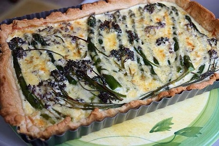Asparagus and Purple Sprouting Quiche