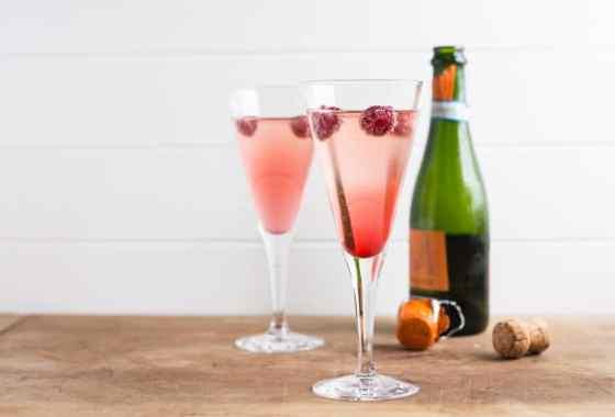 Prosecco Kir Royale Cocktail