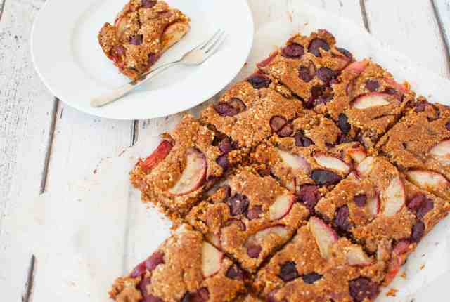 Clean eating peach and cherry bake recipe 3