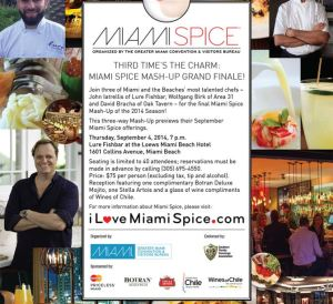 Miami Spice Final Chef Mash-Up Flyer