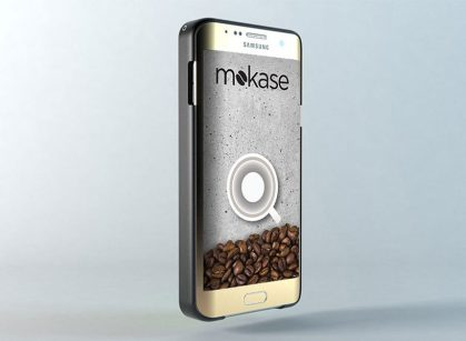 Mokase – ovitek pametnega telefona + espresso avtomat