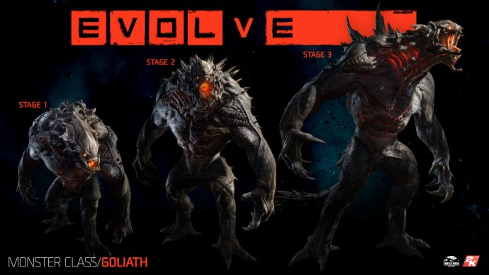 The Goliath is one of three monsters a player can terrorize the others as.
