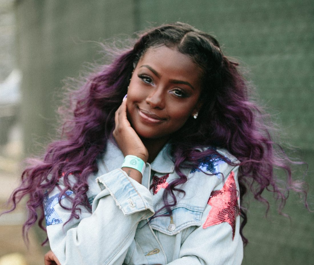 Justine Skye after her performance!
