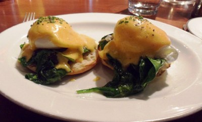 eggs florentine at blue duck tavern