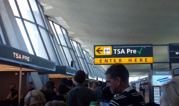 Dulles TSA Pre-check line backed up