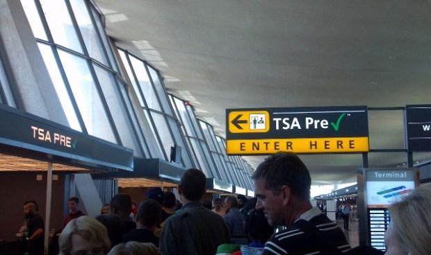 Dulles TSA Pre-check line backed up