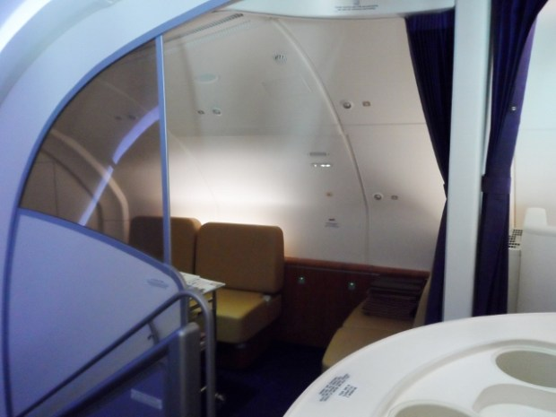 Thai Airways First Class A380 sitting area