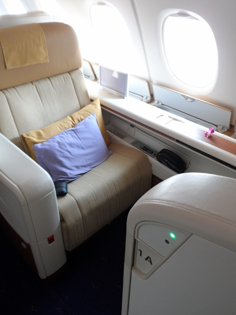 Thai Airways First Class A380 seat