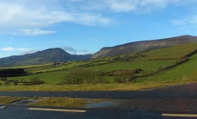 Driving in Ireland Scenery
