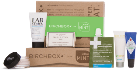 JetBlue Mint Birchbox Amenity Kit example