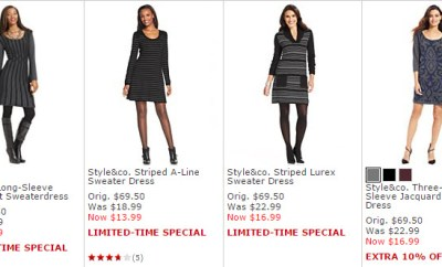 Macys sweater dress sale