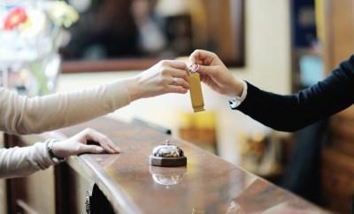 Hotel Reception Check In Key