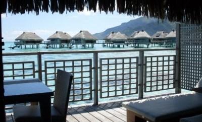 Hilton Moorea Lagoon Resort Overwater Bungalow porch