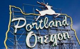Portland Oregon Attractions welcome sign