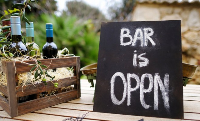 wine deals bar is open