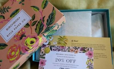 Birchbox April 2016 Effortlessly Elegant box