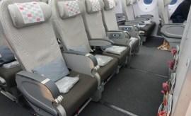 JAL premium economy 787 bulkhead