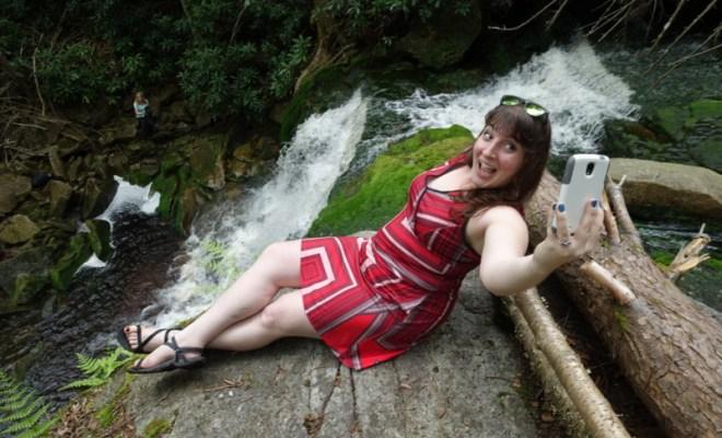 blackwater falls state park davis west virginia elakala falls keri selfie