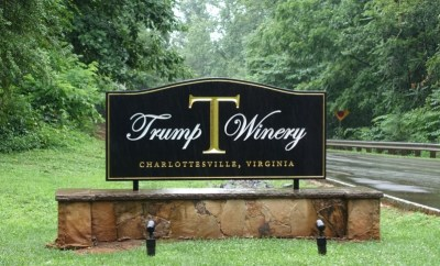 Trump Winery sign Charlottesville Wineries