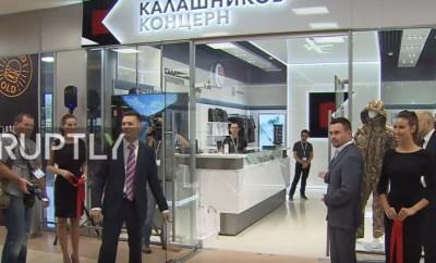 ruptly TV kalashnikov airport store opening