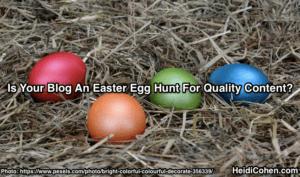 Easter Egg Hunt for Findable Blog Content