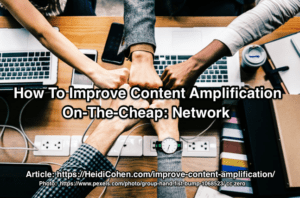 Improve content amplification by networking