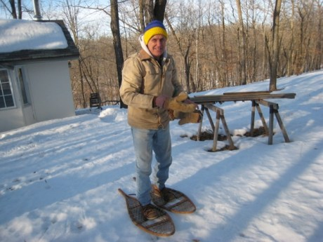 Jim in his snowshoes