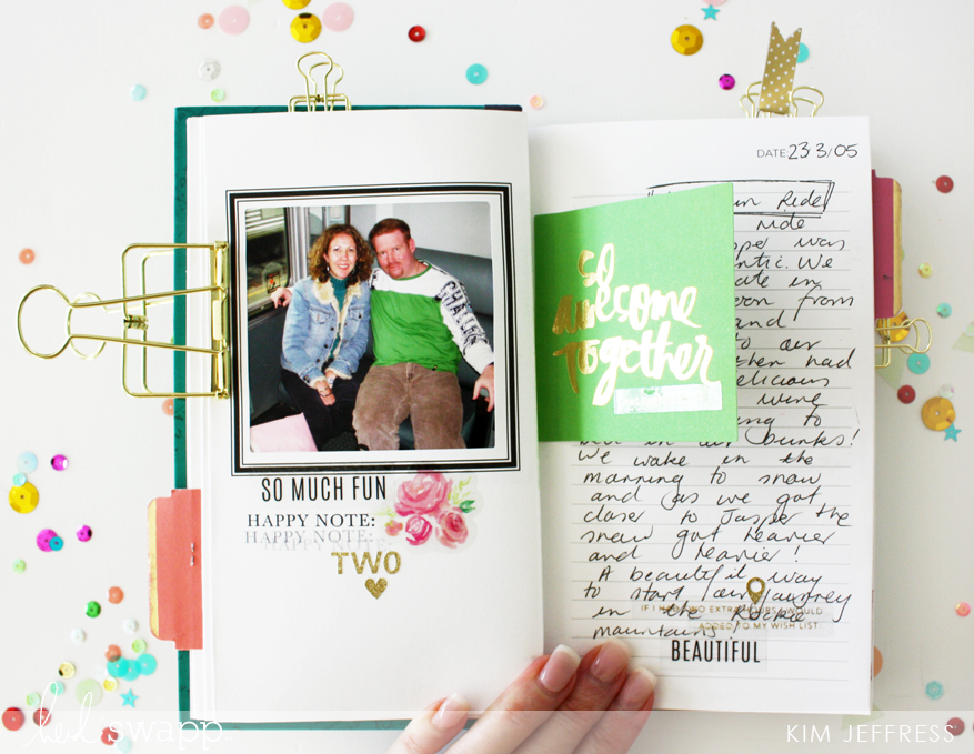 Adventure awaits travel book @kimjeffress for @heidiswapp