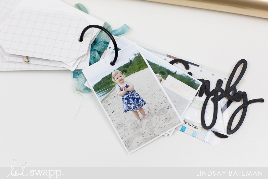 Create Mini Tag Album using MINC Foil and Lamination Techniques I @lindsaybateman for @heidiswapp
