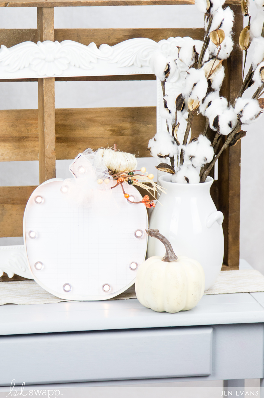 Halloween home decor marquee pumpkin by @createoften for @heidiswapp