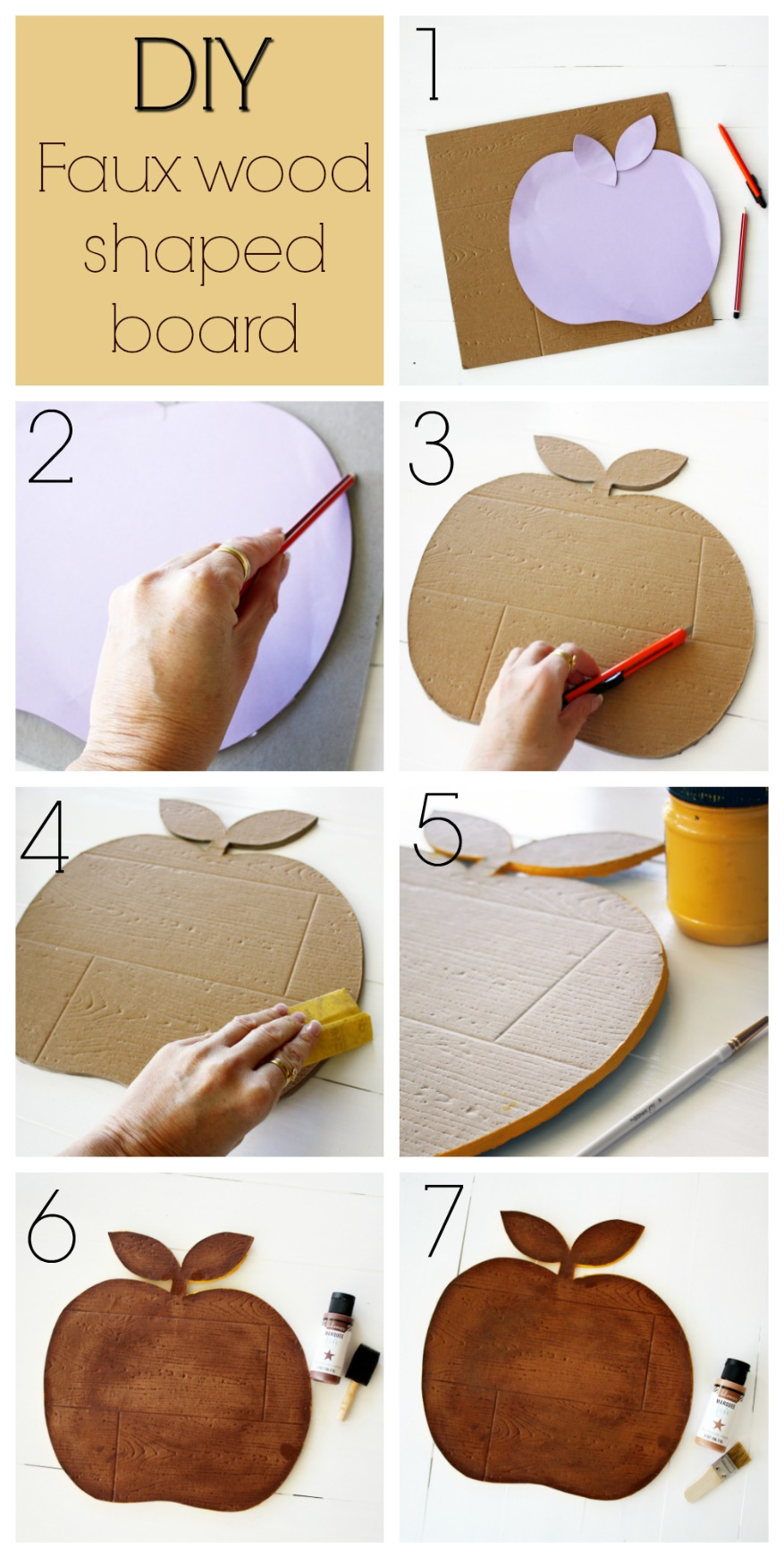 DIY faux chopping board