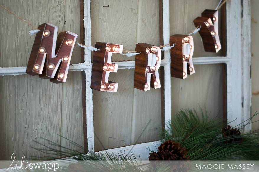 """MERRY 4"""" Marquee Love Banner 