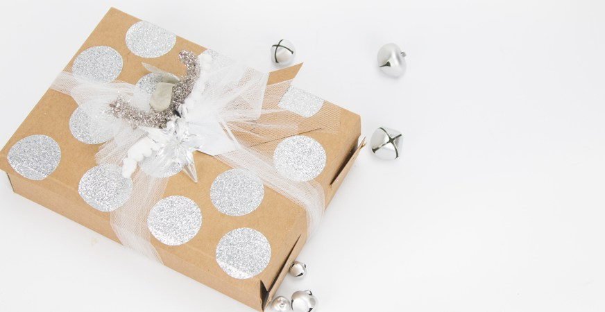 Handmade gift wrap made with household boxes by @createoften for @heidiswapp
