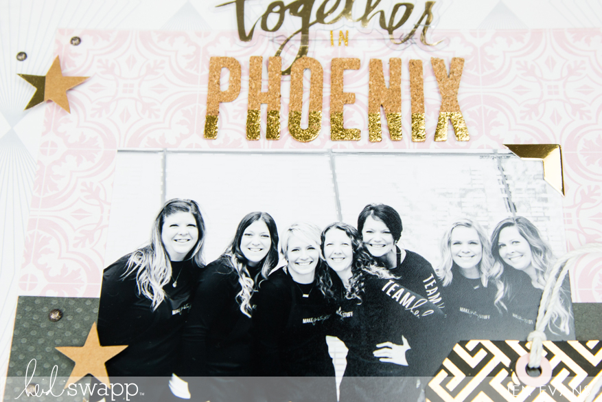 Scrapbooking with Magnolia Jane by @createoften for @heidiswapp