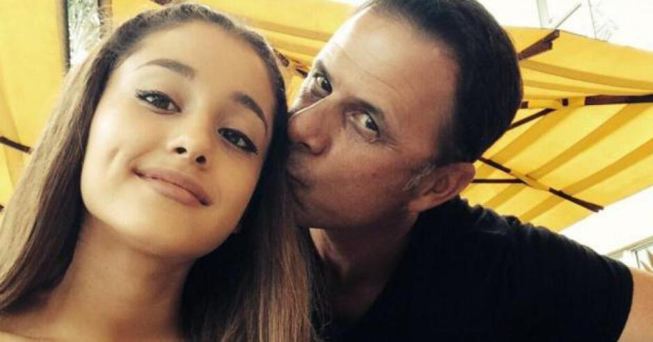 Ariana and dad Edward Grande