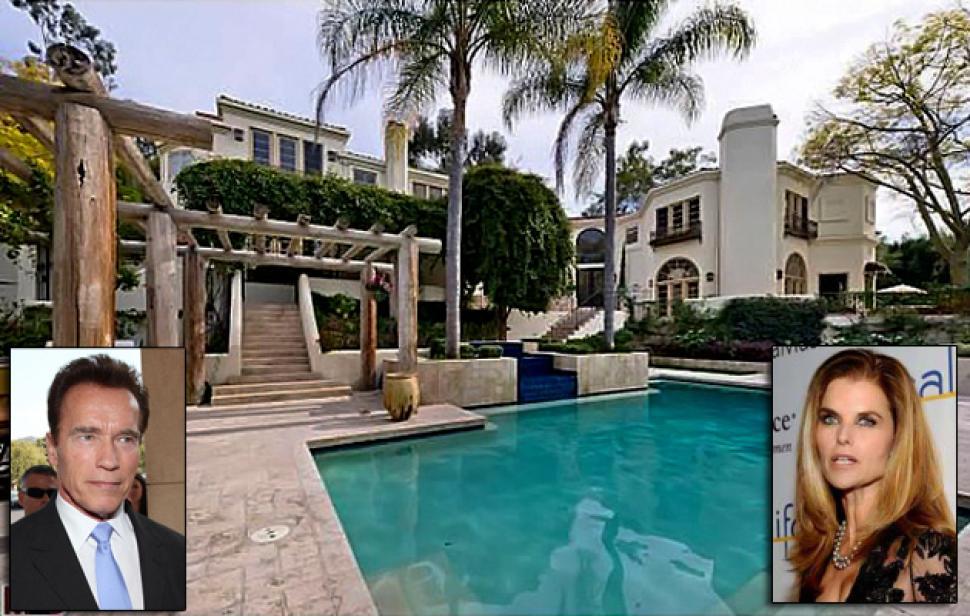 Arnold Schwarzenegger's house pool
