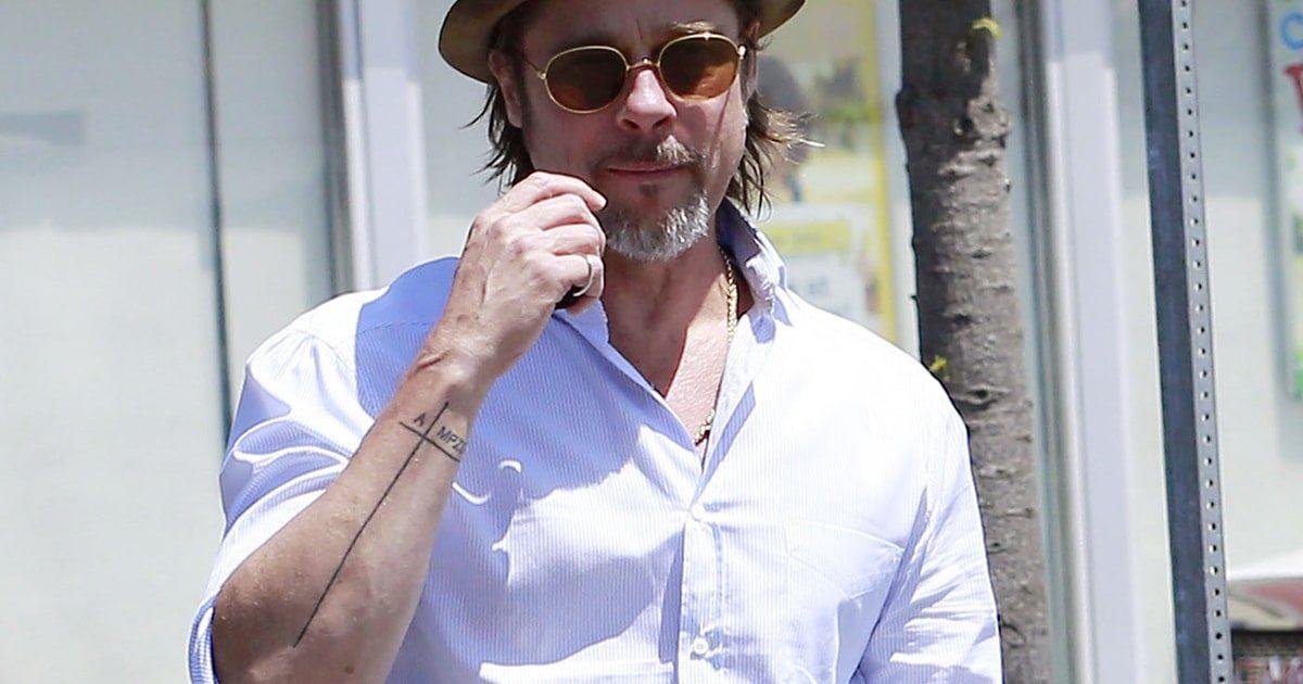 Brad Pitt's tattoos cross