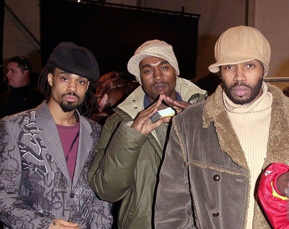 At the Mercedes-Benz Fashion Week Fall 2003 with the Roc-a-fella crew