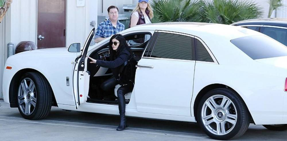 Kylie Jenner's White Rolls Royce Ghost