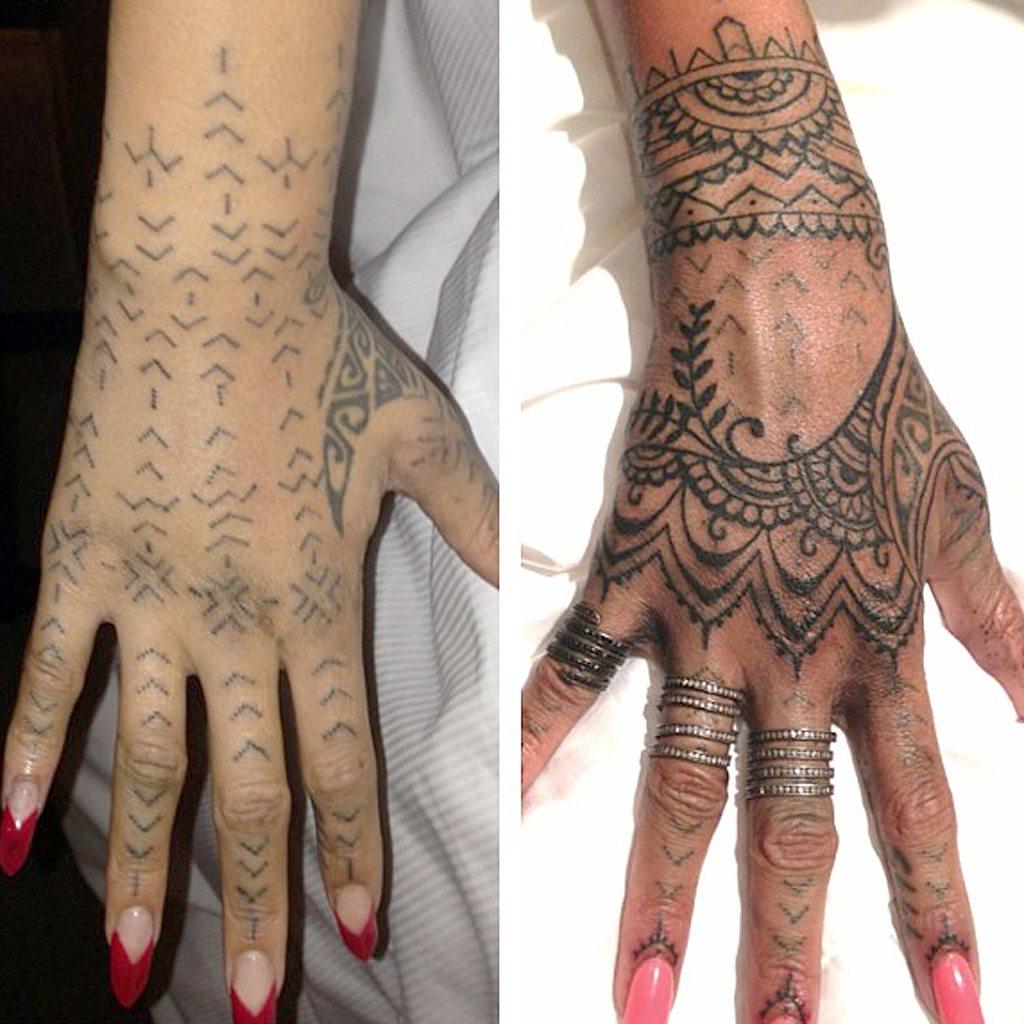 Rihanna's tattoos henna