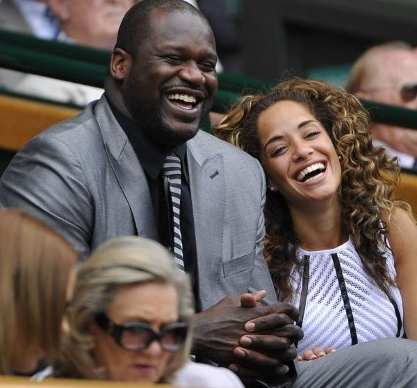 Shaquille O'Neal and Laticia Rolle Spotted at the Wimbledon 2014