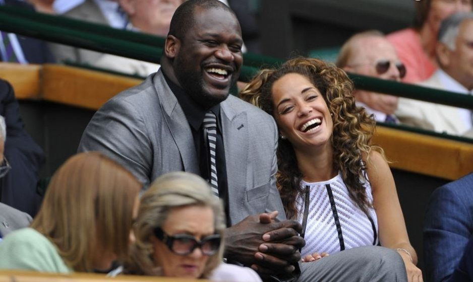 Shaquille O'Neal and girlfriend Laticia Rolle