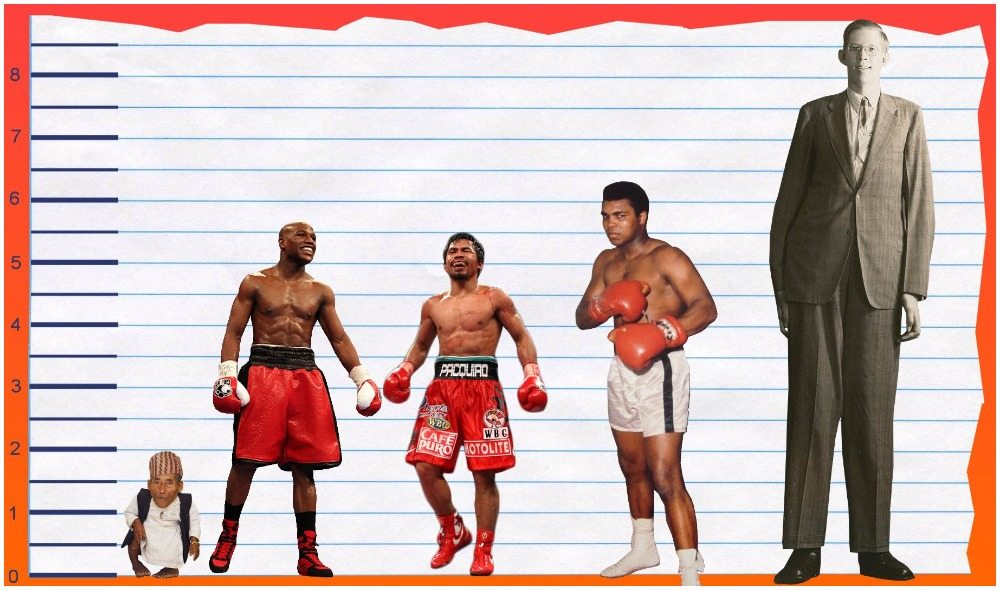 Mayweather's height 3