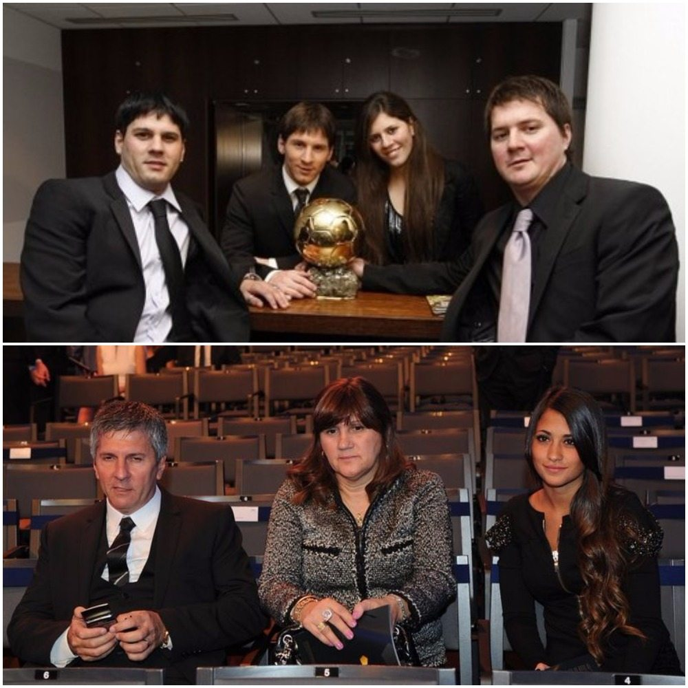 Lionel Messi's wife fam