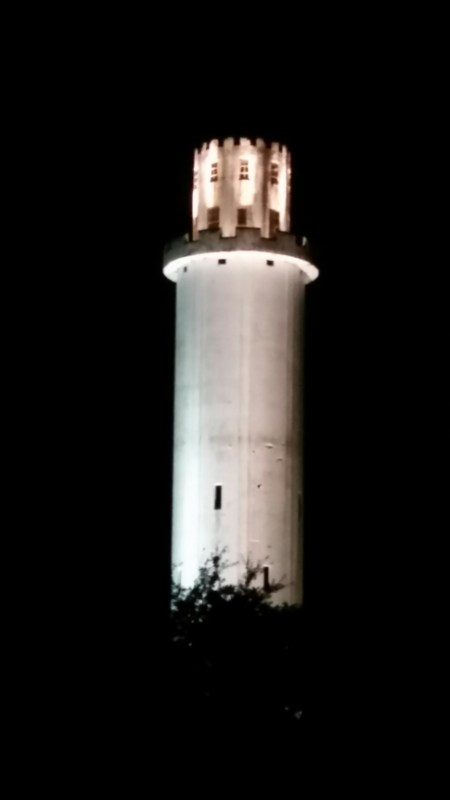 #6 - The Tower all lit up at night #seminoleheights #heightspizza - RATING: 3.30