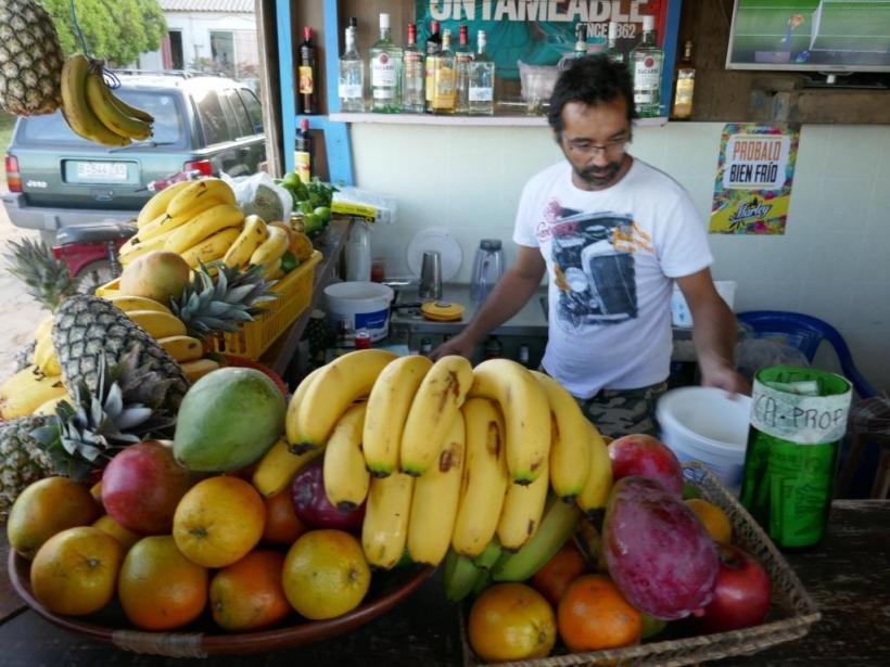 Rohmaterial zum Margarita mit Maracuja ..........