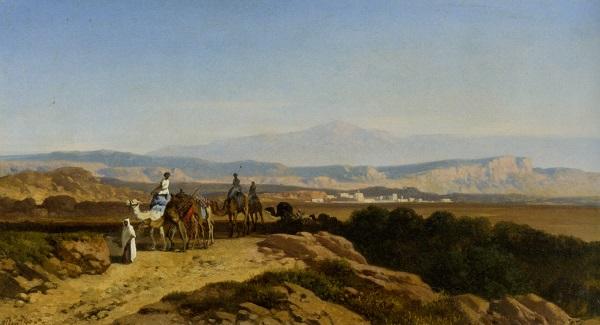 An-Arab-Caravan-by-Albert-Zimmerman