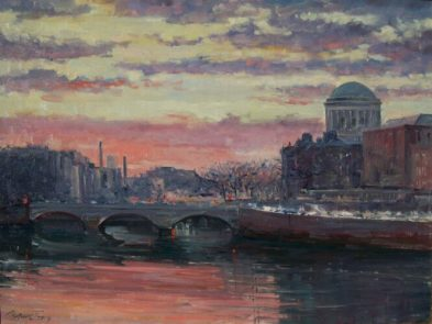 Painting-Evening-Dublin-Tetyana-Tsaryk